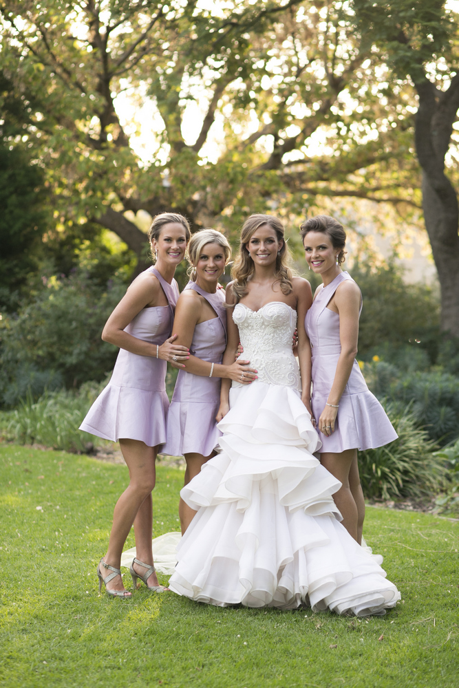 Jane Hill wedding dress, Lilac bridesmaid dress by Bluebell Bridal for glamour Wedding in Melbourne | Photo by Blumenthal Photography. | I take you - UK wedding blog #elegantwedding