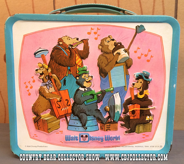 Vintage 1970s Walt Disney World Lunch Box - Country Bear Collector Show #012