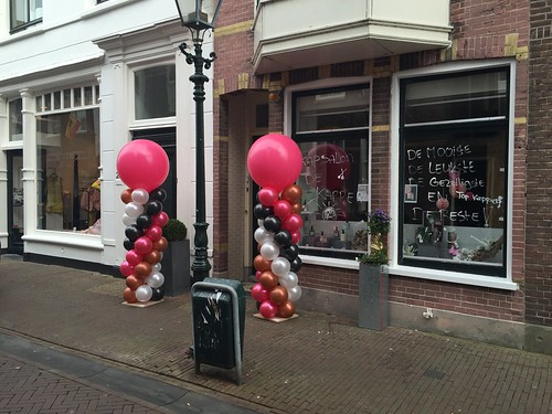 Ballonpilaar Breed Rond Kapsalon De Kapper Brielle