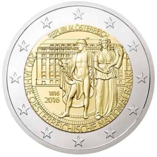 2 EURO Rakúsko 2016 - Národná banka