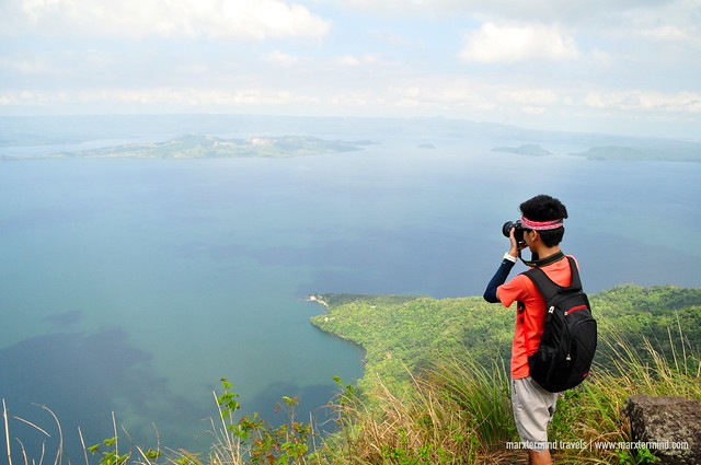 View of Taal Lake from The Rockies Mount Maculot