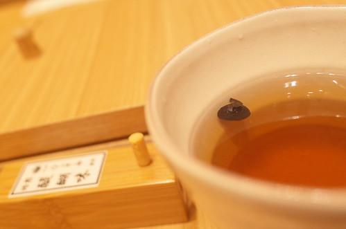 black bean tea 稲庭うどん 金子半之助 黒豆茶