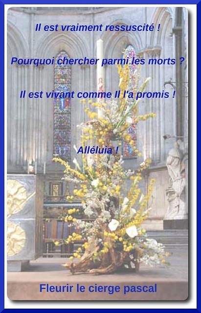 Fleurir le cierge Pascal