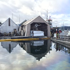 Port Orchard Yacht Club fire cleanup 3-22-16