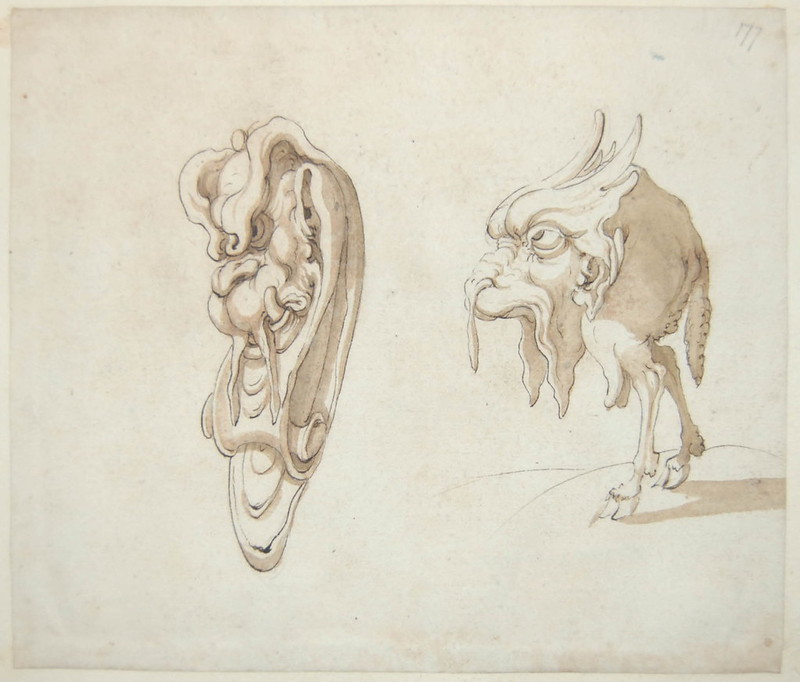 Arent van Bolten - Monster 177, from collection of 425 drawings, 1588-1633