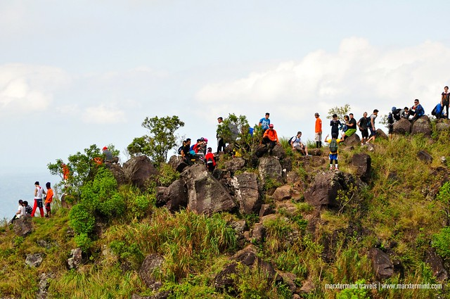 Hikers at The Rockies of Mount Maculot