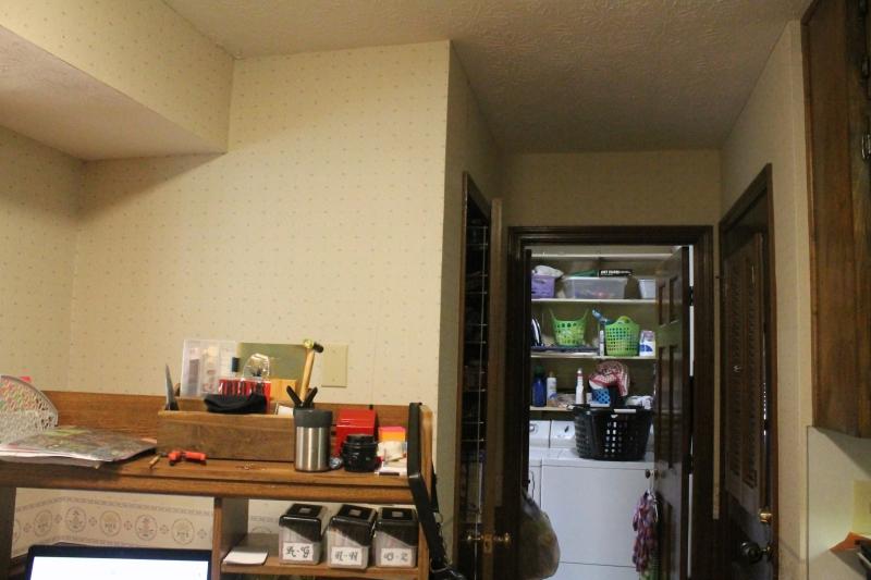 Desk wall & door nook