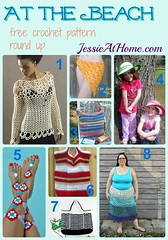 At the Beach free crochet pattern round up from Jessie At Home