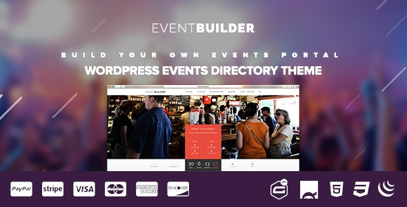 EventBuilder v1.0.9 - WordPress Events Directory Theme