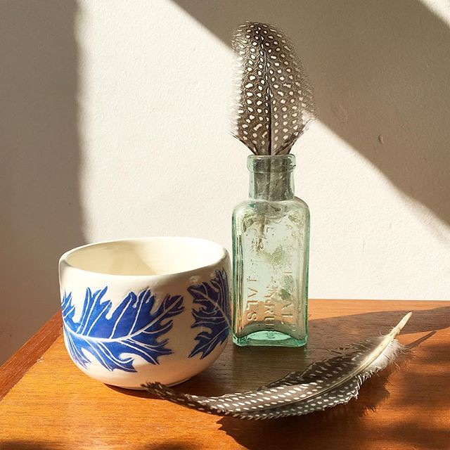 the feather bowl #feather #ceramics