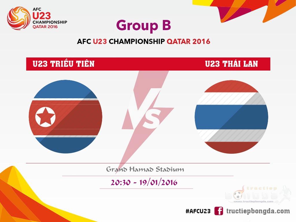 U23 Triều Tiên vs U23 Thái Lan