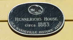 Photo of Hennerichs House black plaque