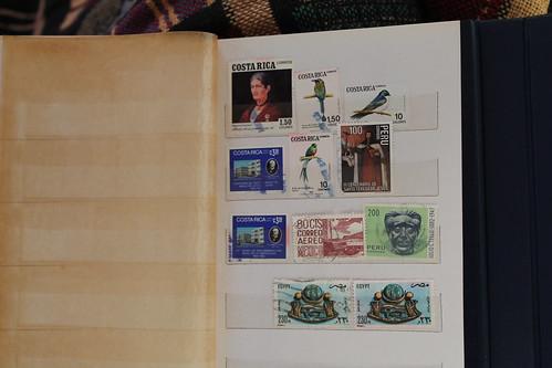childhood stamp album