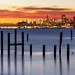 December SF Dawn from Sausalito by Rob Kroenert