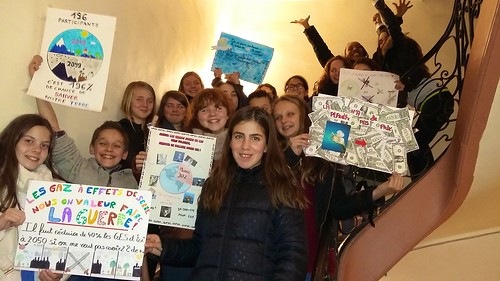 Posters created by the students featuring issues relating to the UN Climate Change Conference that took place in Paris in December 2015
