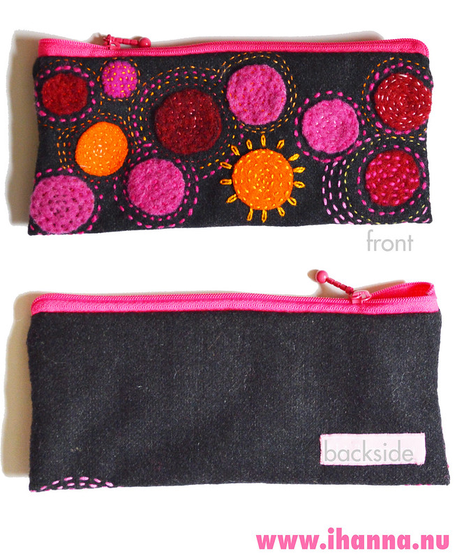 Pen Case 2 - showing of both front and backside made by iHanna