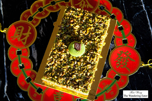 Pistachio cake for Chinese New Year