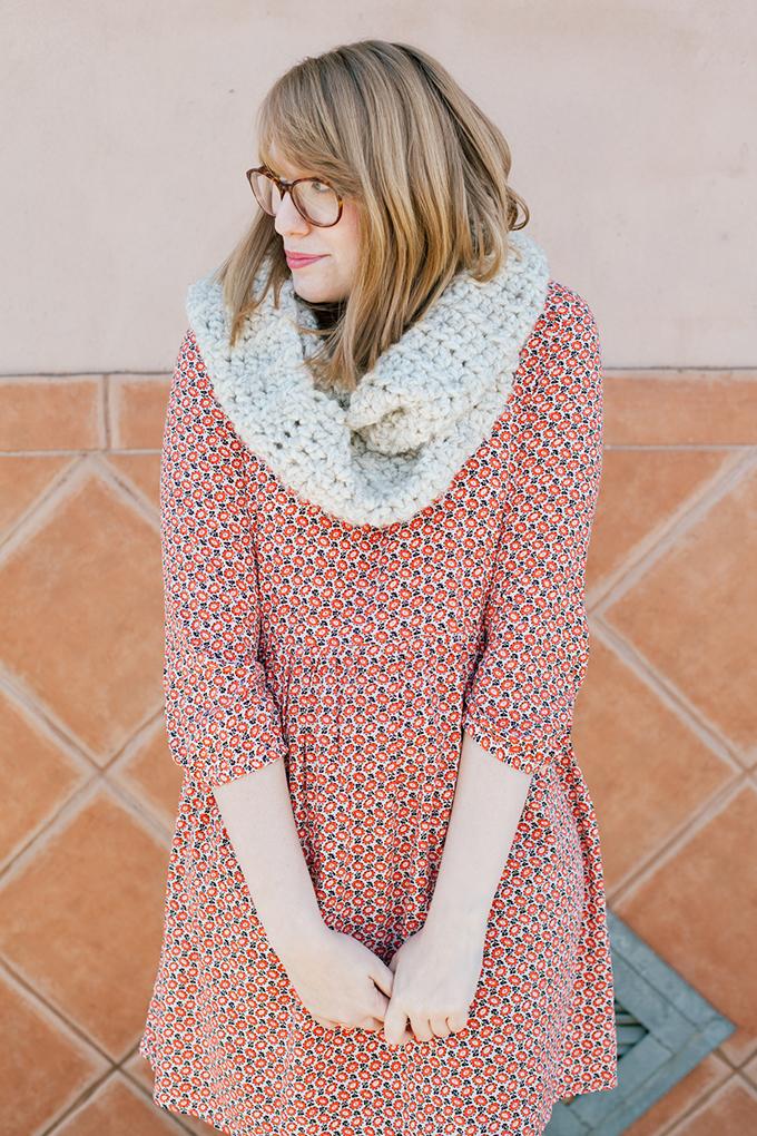 old navy smock dress knit scarf3