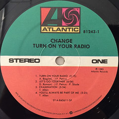 CHNAGE:TURN ON YOUR RADIO(LABEL SIDE-A)