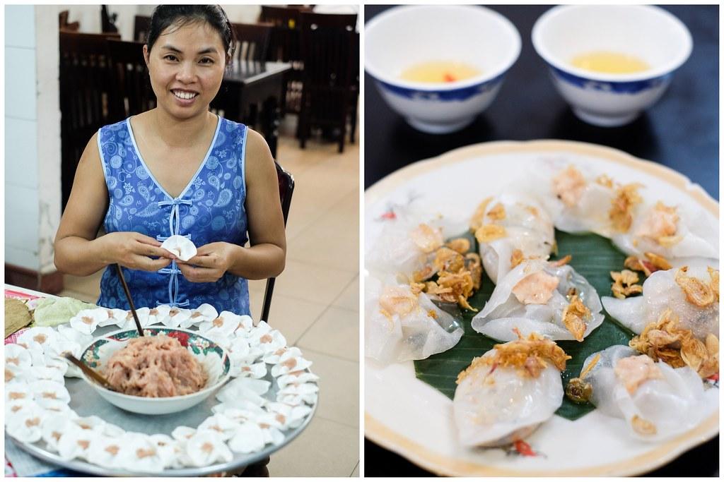 海一个食物之旅:白玫瑰餐厅员工准备饺子