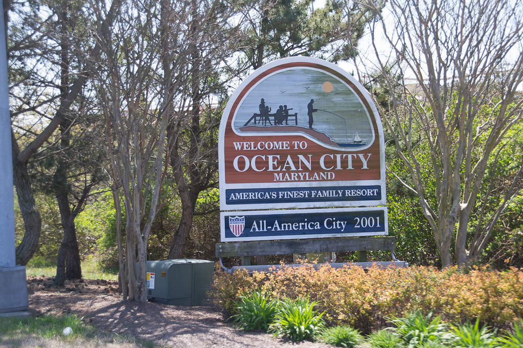 Sign for Ocean City