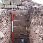 Internal wall on northern side of Holt Castle revealed during excavation work.