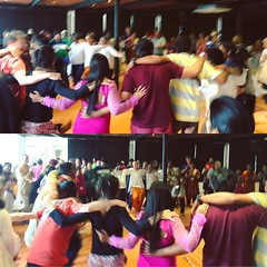 The party continued in a way :-)  Shots from the spirited closing ceremony at Isha Yoga today. Glad to have come by some very amazing people from all walks of life and share all the beautiful, colorful moments these past few days :-)  #UndercoverYogis #Ce