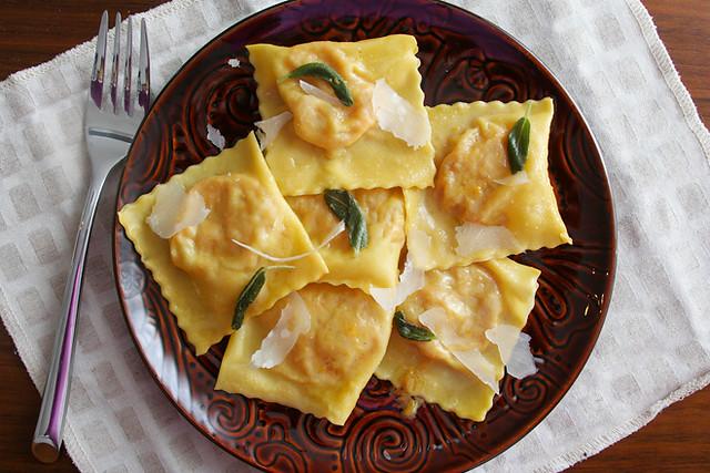 goat cheese squash ravioli 6