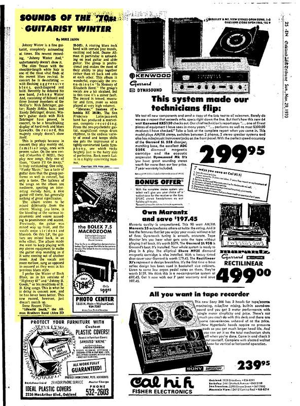 70-11-29 Oakland Tribune