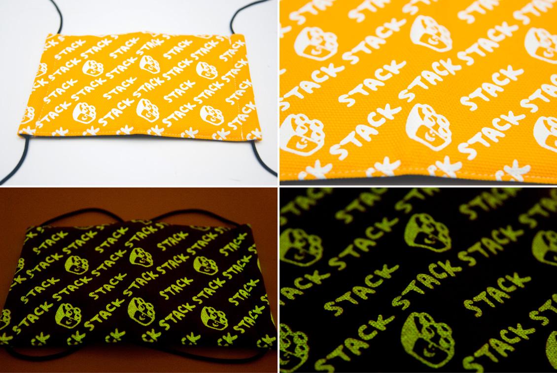 微笑積木-黃色-夜光口罩-c02