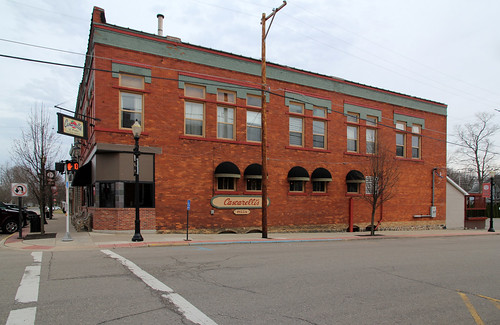county street trees windows winter signs building brick cars stone altered restaurant italian calhoun michigan 11 structure historic foundation pizza sidewalk commercial homer twostory italianate cascarellis