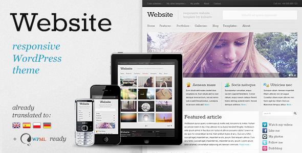 Website v6.0 – Responsive WordPress Theme
