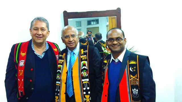 02. Ranjit Barthakur, S. Ramadorai and Nitu Kr. Kalita at CM's residence Kohima on 090216