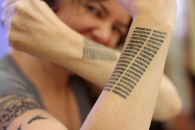 2016/366/79 Best Binary Literary Tattoos in the Universe
