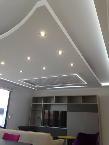 Plafond d co staff jean jacques meudec peinture for Deco plafond design