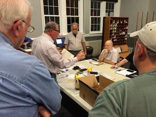 Dave Koss delivers a presentation on plaster casting