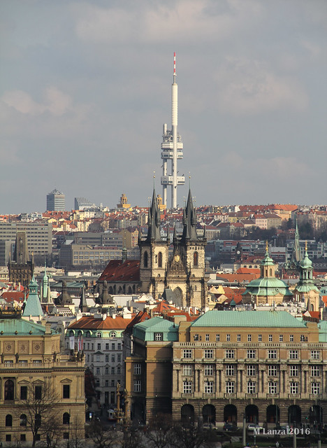 Žižkov TV Tower & Old Prague