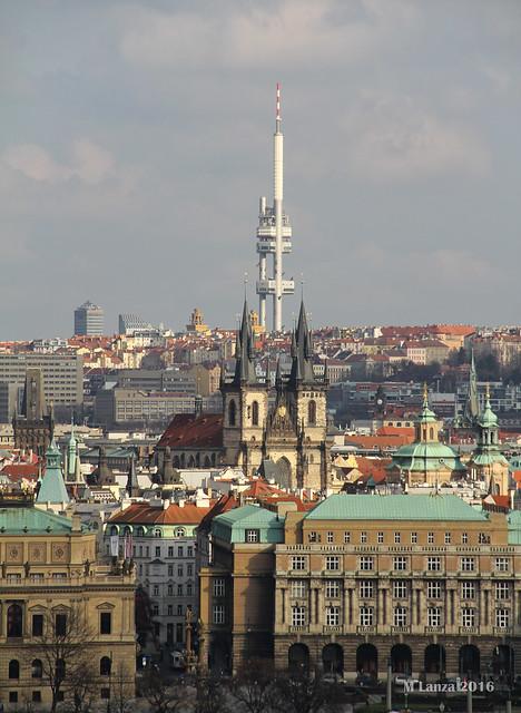 Žižkov TV Tower & Old Prague