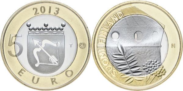 5 Euro Fínsko 2013, provincia Savonia