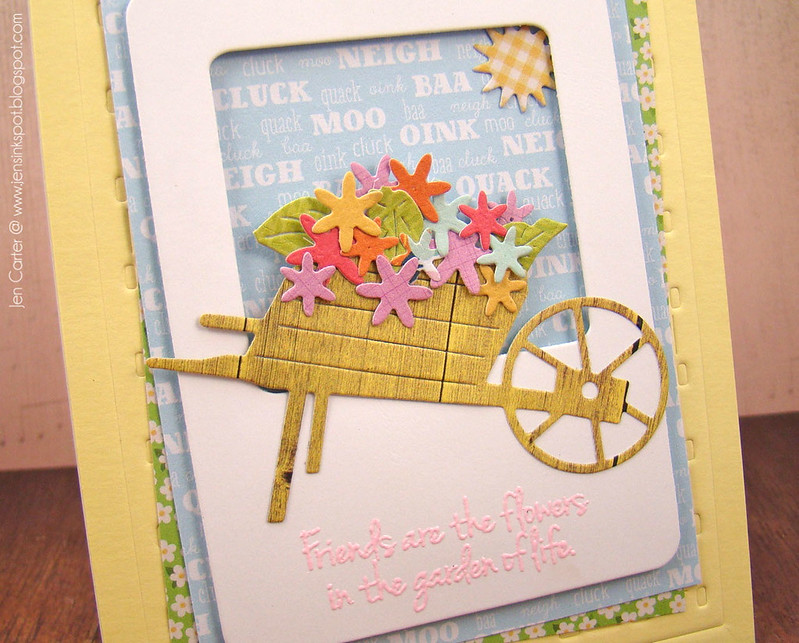 Jen Carter Wheelbarrow Friends Flowers Closeup 1