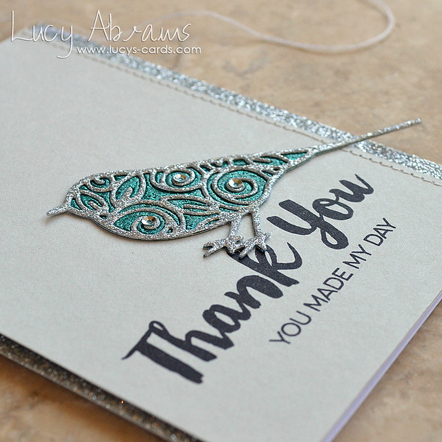 Sparkly Thank You 2 by Lucy Abrams