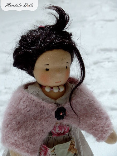 Liza 35cm waldorf style doll with weft mohair hair_3