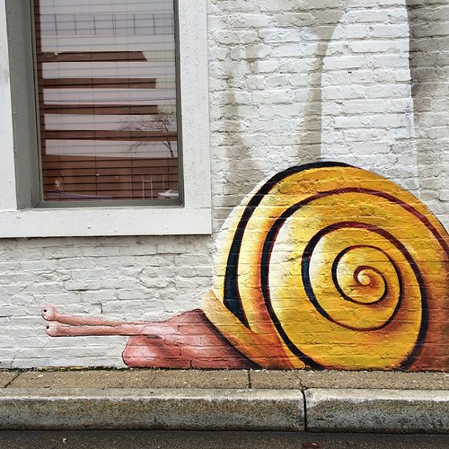 From the mural on the side of Jean-Robert's Table. Snails for dinner, anyone? #cincinnati