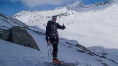 Tomasz na podejsciu do lodowca Niederjochferner
