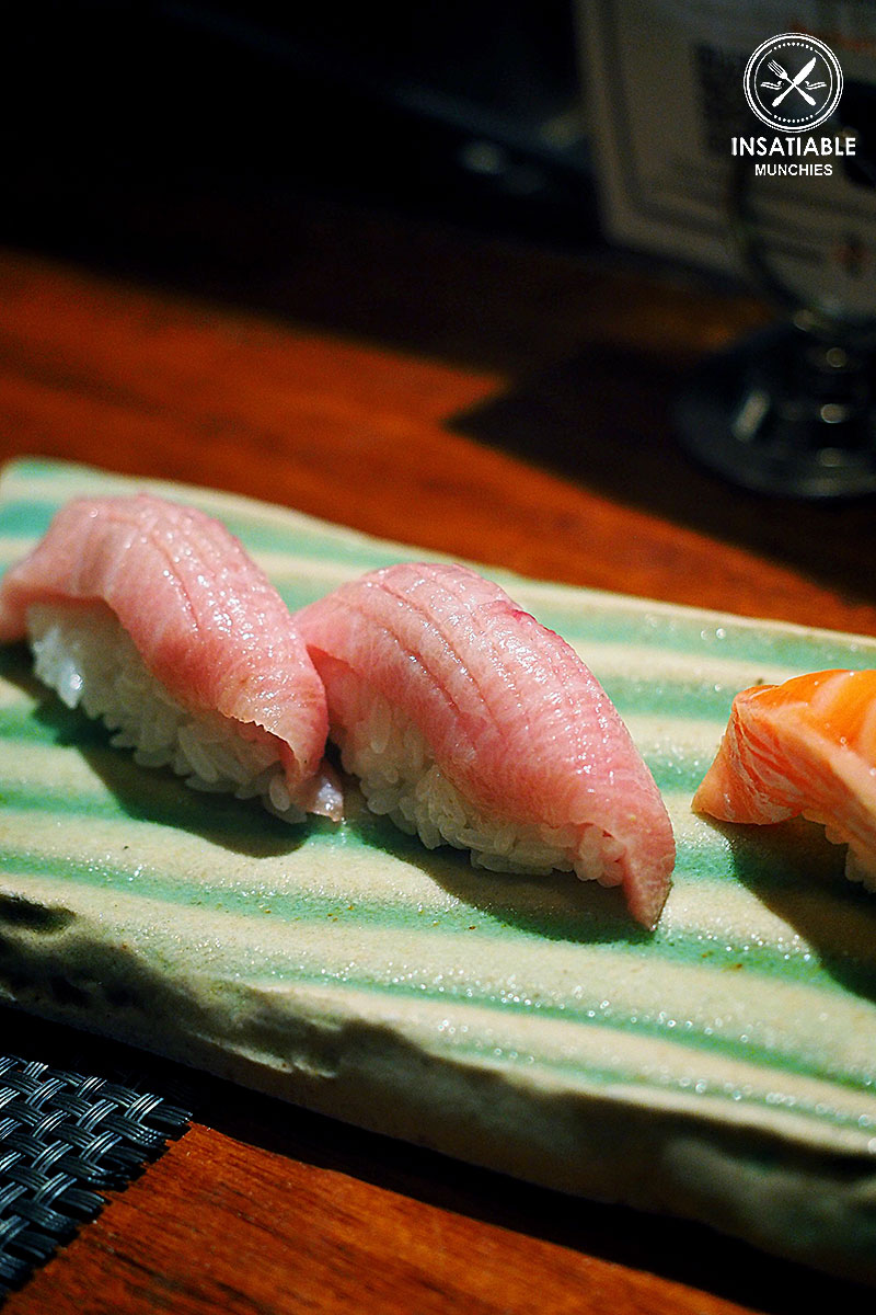 Toro nigiri sushi, $12 for 2pc: Busshari, Potts Point. Sydney Food Blog Review