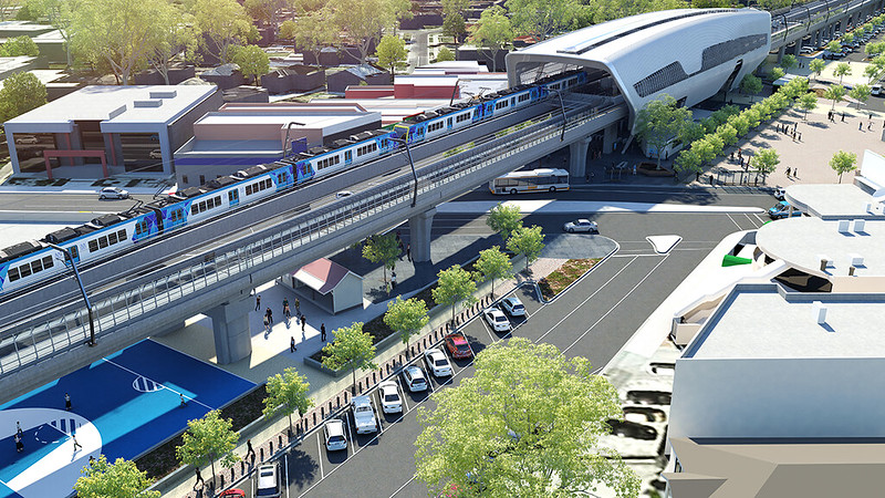 Clayton station - LXRA impression, Feb 2016