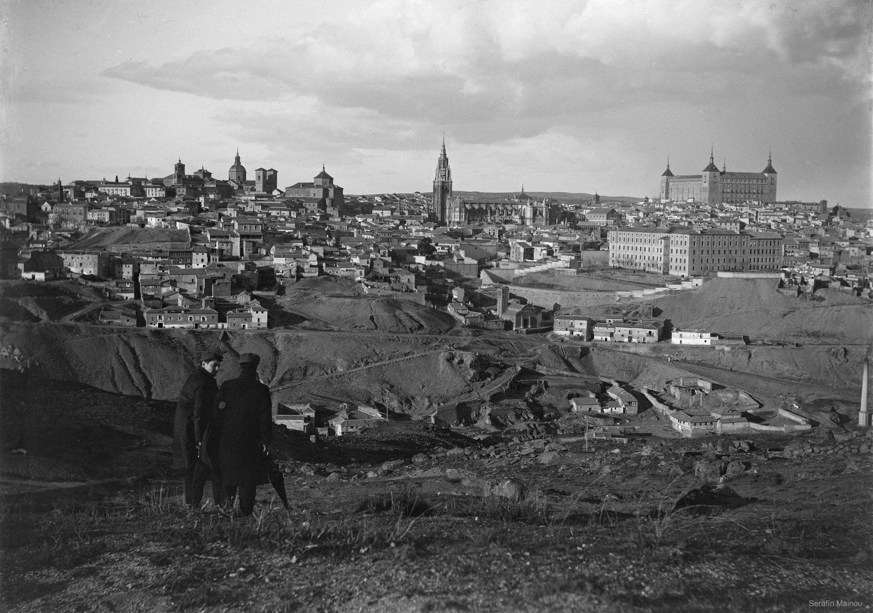 Vista general de Toledo hacia 1903. Fotografía de Serafín Mainou © Colección de Juan Modolell