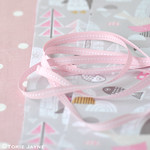 Jane Means Pink stitched ribbon