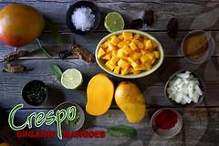 Homemade hot mango habanero sauce