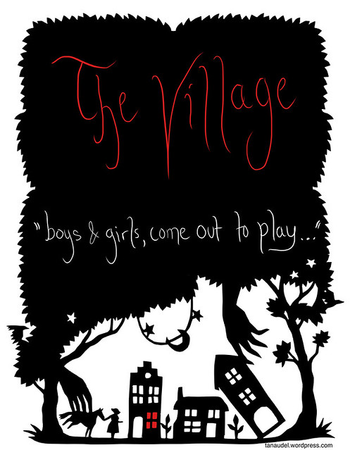 Illustration Friday: Village poster